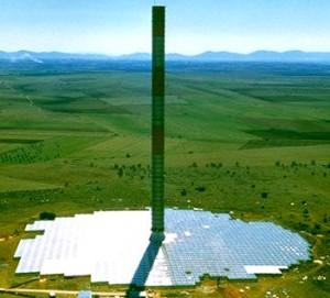 עיקרון אוויר חם לייצור חשמל סולארי