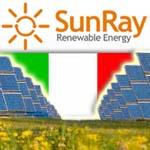 שדה סולארי באיטליה מוקם ע'י סאן ריי בניהול ישראלים
