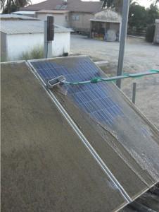 נקיון מערכת סולארית בקרית עקרון
